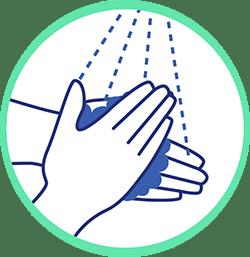 gestes barrières Animask se laver les mains très régulièrement