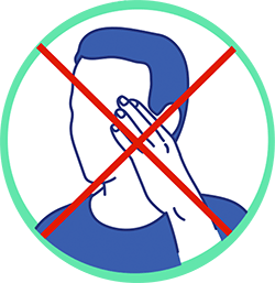 gestes barrières Animask ne pas se toucher le visage