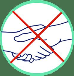 gestes barrières Animask ne pas se se serrer la main